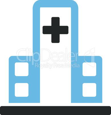 Bicolor Blue-Gray--hospital building.eps