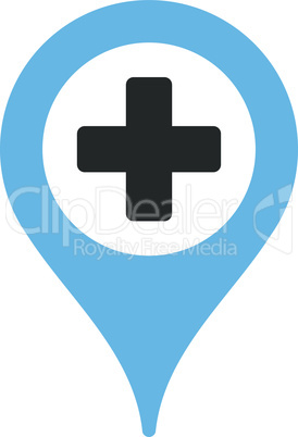 Bicolor Blue-Gray--hospital map pointer.eps