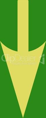 bg-Green Yellow--sharp down arrow.eps