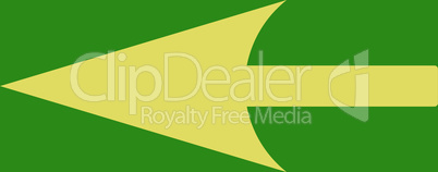 bg-Green Yellow--sharp left arrow.eps