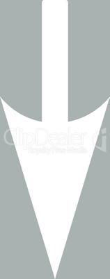 bg-Silver White--sharp down arrow.eps