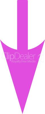 Pink--sharp down arrow.eps
