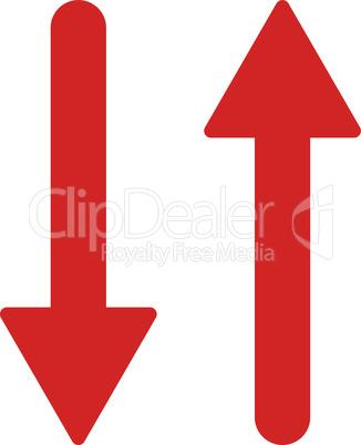 Red--arrows exchange vertical.eps