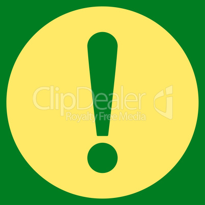 Problem flat yellow color icon