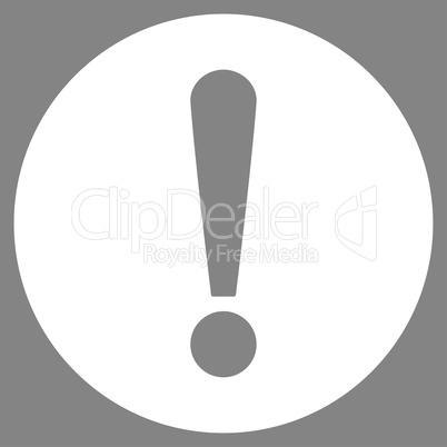 Problem flat white color icon
