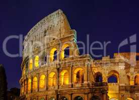 Rom Kolosseum Nacht - Rom Colosseum by night 02