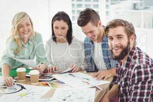 Creative business professionals working