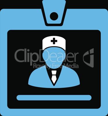 bg-Black Bicolor Blue-White--doctor badge.eps