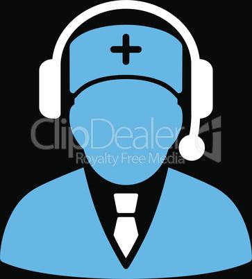 bg-Black Bicolor Blue-White--Emergency manager.eps