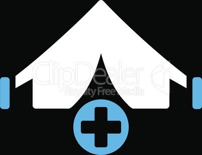 bg-Black Bicolor Blue-White--field hospital.eps