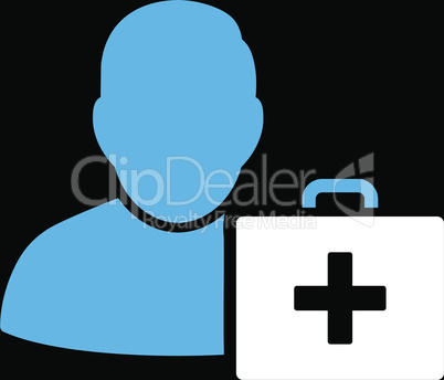 bg-Black Bicolor Blue-White--first aid man.eps