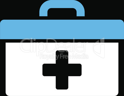 bg-Black Bicolor Blue-White--first aid toolbox.eps