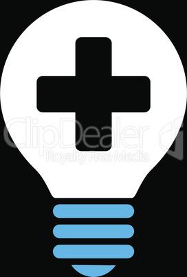 bg-Black Bicolor Blue-White--healh care bulb.eps