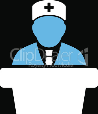 bg-Black Bicolor Blue-White--Health care official.eps