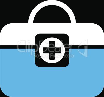 bg-Black Bicolor Blue-White--medic case.eps