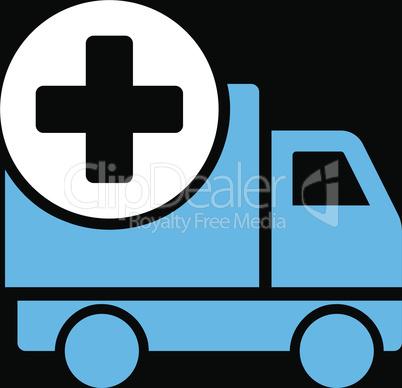 bg-Black Bicolor Blue-White--medical delivery.eps