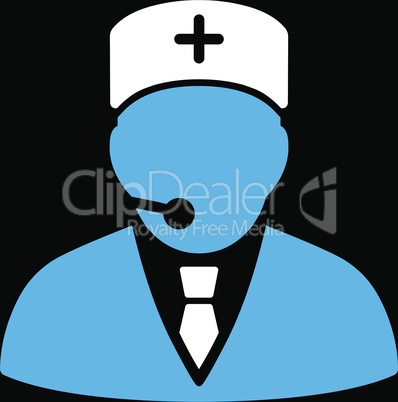 bg-Black Bicolor Blue-White--medical manager.eps