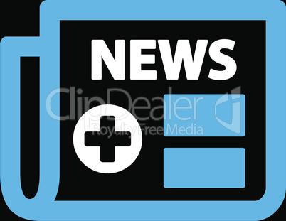 bg-Black Bicolor Blue-White--medical newspaper.eps