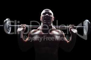 Aggressive man lifting crossfit