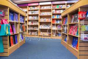 Books arranged in shelf