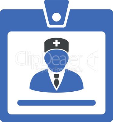 BiColor Cobalt-Gray--doctor badge.eps