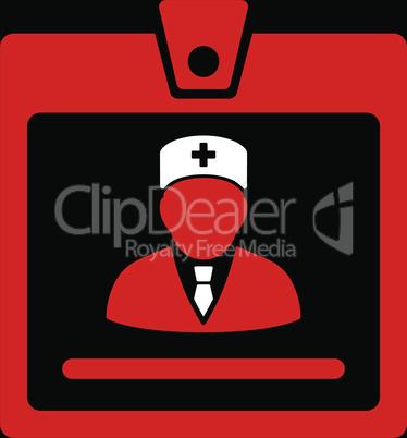 bg-Black Bicolor Red-White--doctor badge.eps