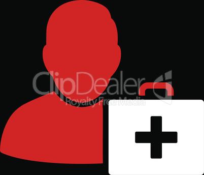 bg-Black Bicolor Red-White--first aid man.eps