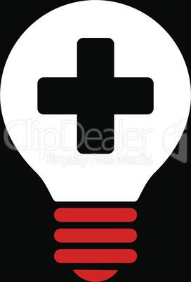 bg-Black Bicolor Red-White--healh care bulb.eps