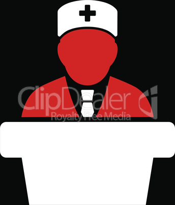 bg-Black Bicolor Red-White--Health care official.eps