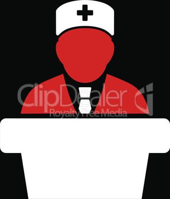bg-Black Bicolor Red-White--Health care official.eps
