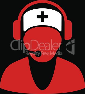 bg-Black Bicolor Red-White--hospital receptionist.eps