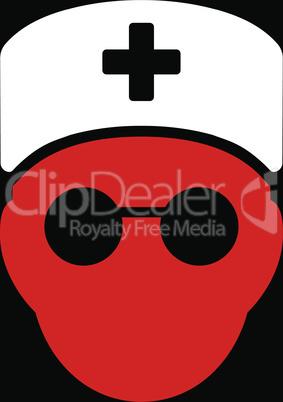 bg-Black Bicolor Red-White--medic head.eps