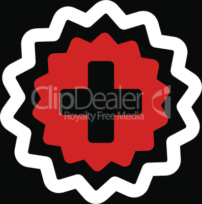 bg-Black Bicolor Red-White--medical cross stamp.eps