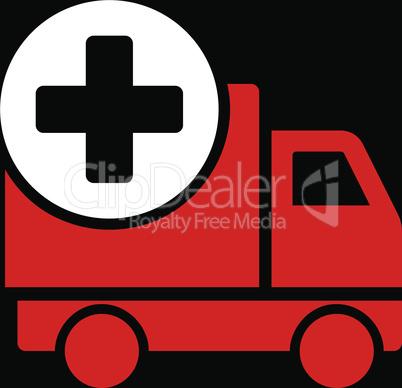 bg-Black Bicolor Red-White--medical delivery.eps