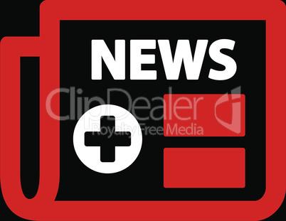 bg-Black Bicolor Red-White--medical newspaper.eps