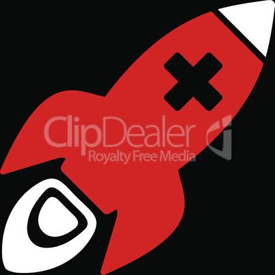 bg-Black Bicolor Red-White--medical rocket.eps