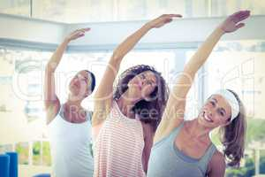Sport women with arm raised