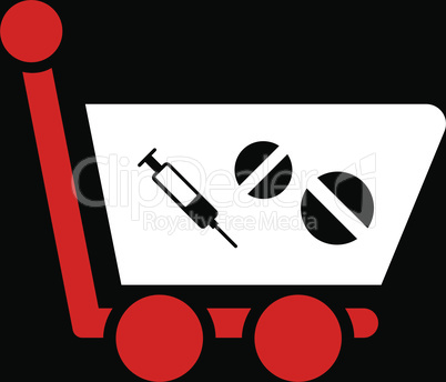 bg-Black Bicolor Red-White--medication shopping cart.eps