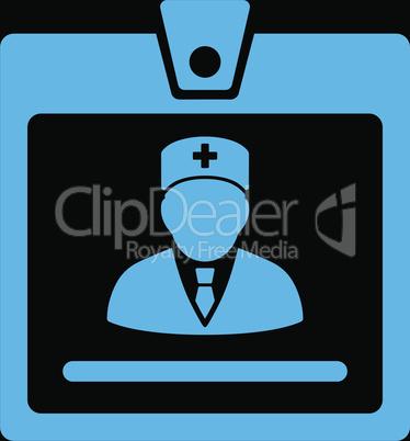 bg-Black Blue--doctor badge.eps