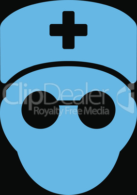 bg-Black Blue--medic head.eps