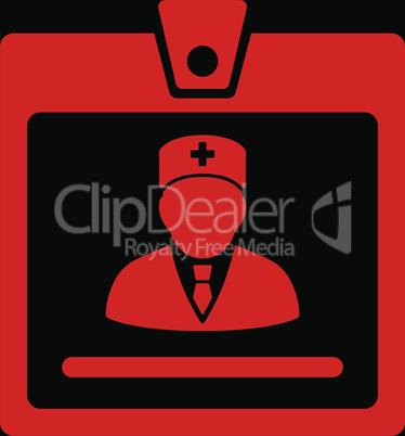bg-Black Red--doctor badge.eps