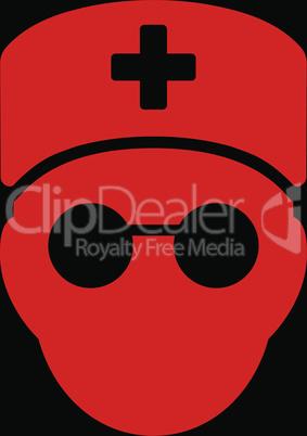 bg-Black Red--medic head.eps