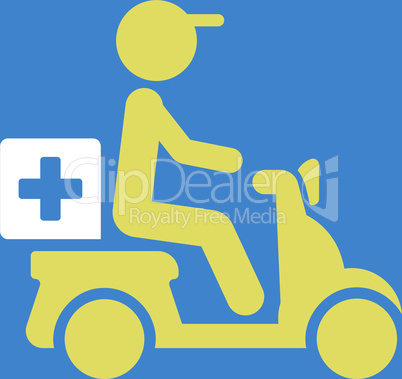bg-Blue Bicolor Yellow-White--drugs motorbike delivery.eps
