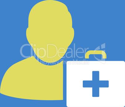 bg-Blue Bicolor Yellow-White--first aid man.eps