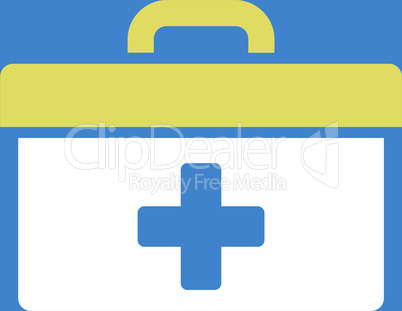 bg-Blue Bicolor Yellow-White--first aid toolbox.eps