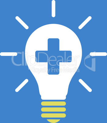 bg-Blue Bicolor Yellow-White--medical electric lamp.eps