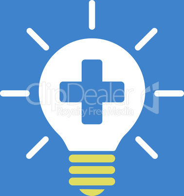 bg-Blue Bicolor Yellow-White--medical lamp.eps