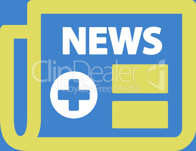 bg-Blue Bicolor Yellow-White--medical newspaper.eps
