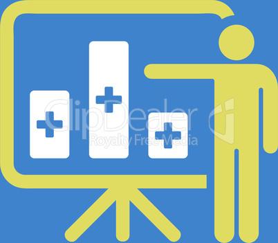bg-Blue Bicolor Yellow-White--medical public report.eps