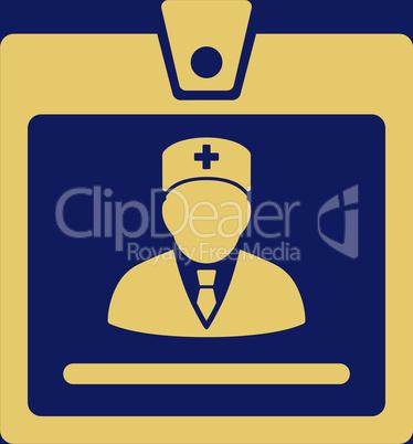 bg-Blue Yellow--doctor badge.eps